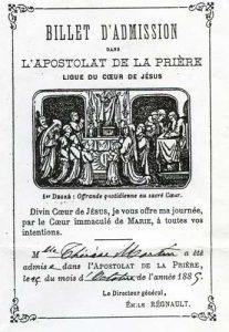 Santa Teresa de Lisieux participaba en el AO durante su infancia, y esta manera de orar que ella interiorizó desde muy joven la condujo a ser reconocida como la patrona de las misiones. Sus padres también formaban parte del AO y rezaban por la misión de la Iglesia.