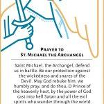 Estampa San Miguel Arcángel - PrayfortheChurch - ENGLISH