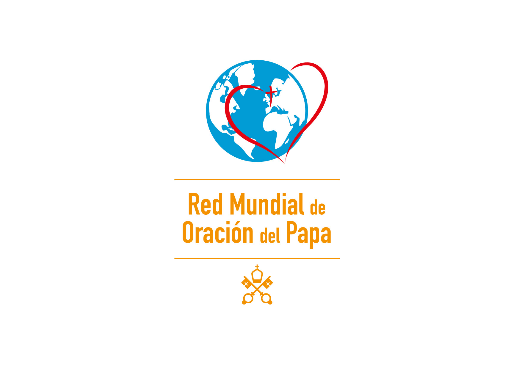 Logo Red Mundial de Oración del Papa-Pontifical Work-SP-Vertical