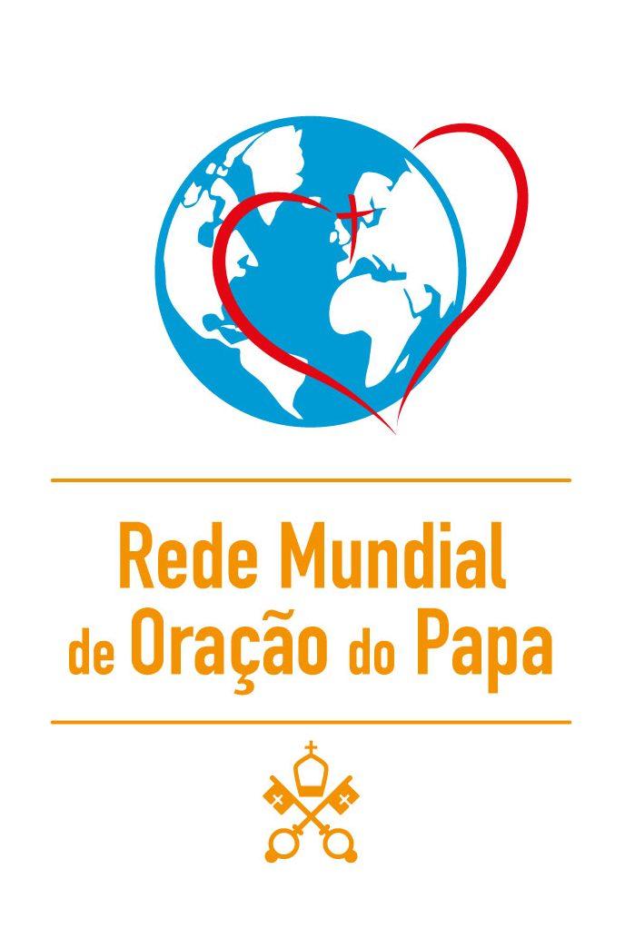 Logo Rede Mundial de Oração do Papa-Pontifical Work-PT-Vertical