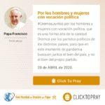 Por los hombres y mujeres con vocación política Click To Pray