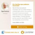 Por familias que padecen necesidad Click To Pray